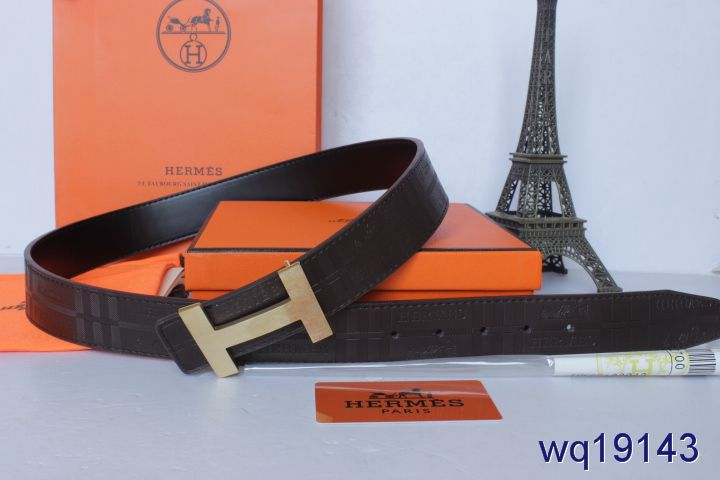 Protective with Golden H Buckle Black Hermes Belt Mens