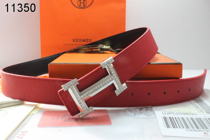Hermes Belt Red with Silver H Buckle Mens Clearance