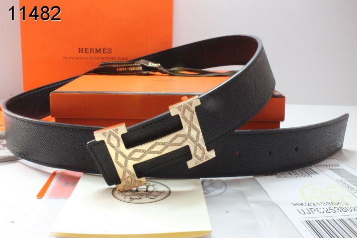 Shopping Black Belt Mens Hermes with Golden H Buckle UK