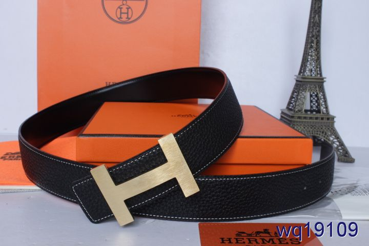 New Hermes Belt Black with Golden H Buckle Mens