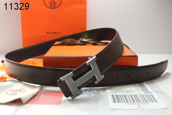 Stylish Belt Hermes with Silver H Buckle Mens Black Clearance Sa