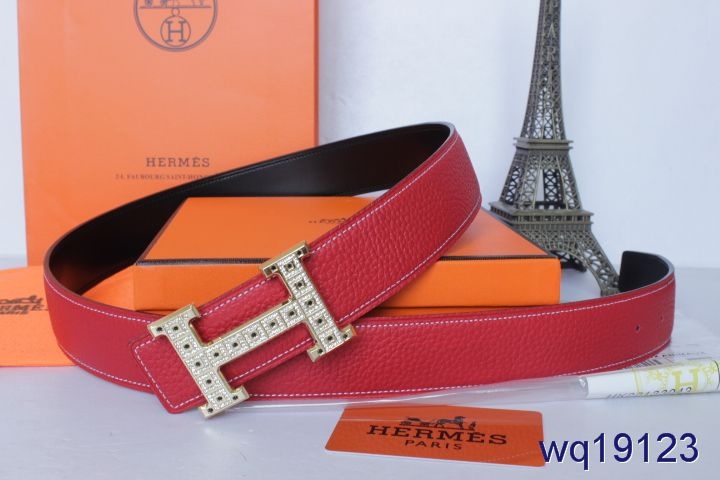 Rose Mens Hermes with Golden H Buckle Belt Sale