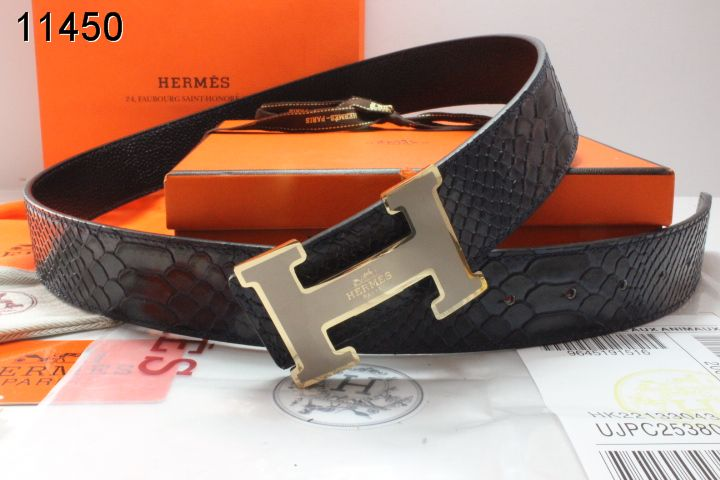 Special Belt Mens Hermes Black with Golden H Buckle Store