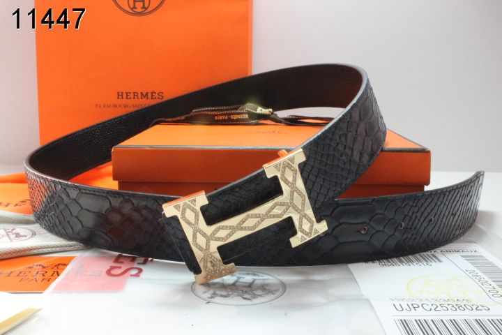 Designer with Golden H Buckle Hermes Black Mens Belt Store
