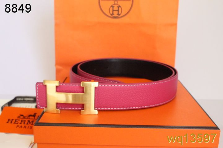 with Golden H Buckle Mens Hermes Belt Rose Inexpensive