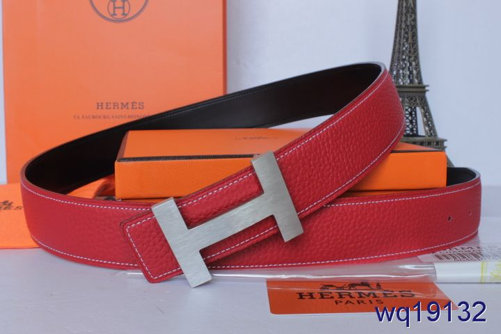 Hermes with Silver H Buckle Belt Rose Mens Affordable