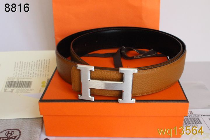 with Silver H Buckle Hermes Orange Mens Belt UK