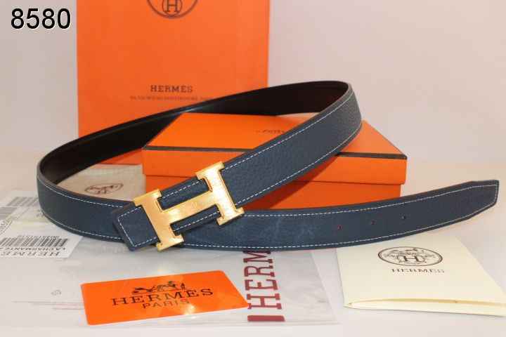 Buy Dark Belt with Golden H Buckle Hermes Blue Womens