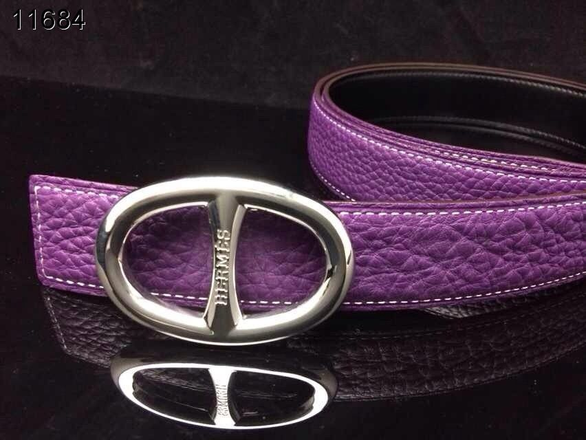with Silver H Buckle Belt Hermes Womens Purple Deals