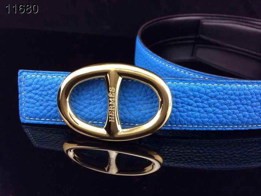 with Golden H Buckle Hermes Belt Womens Blue Online
