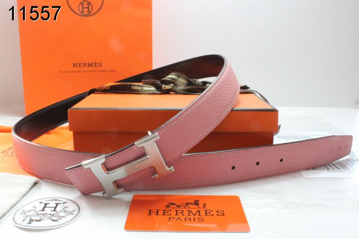 Hermes Pink Belt with Silver H Buckle Womens UK