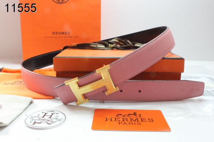 Hermes with Golden H Buckle Pink Womens Belt Inexpensive