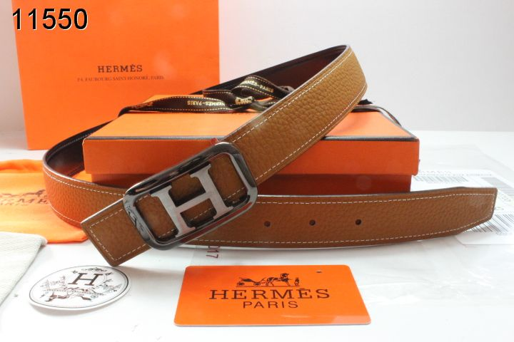 Exclusive Hermes with Black/Silver H Buckle Belt Brown Womens
