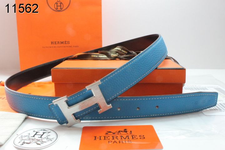 Freshest Blue Womens Hermes with Silver H Buckle Belt