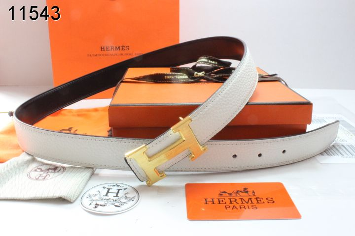Trendy Beige Hermes with Golden H Buckle Womens Belt