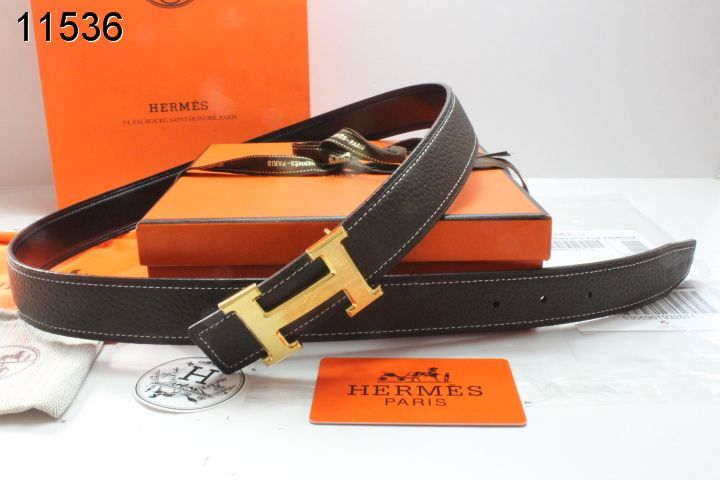 Qualified Black Belt Womens with Golden H Buckle Hermes