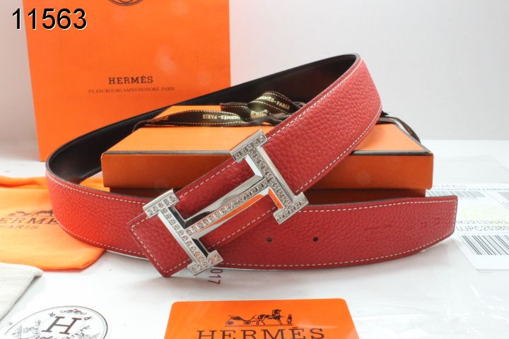Womens Hermes Belt with Blingbling H Buckle Red Sale