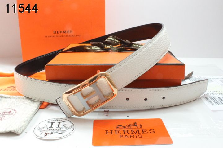 Top Belt Beige Hermes with Golden H Buckle Womens