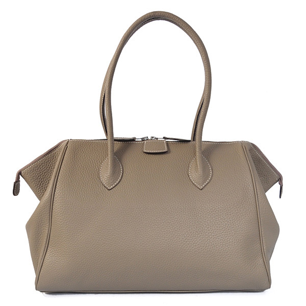1269 Hermes 37cm paris bombay clemence leather in Dark Grey