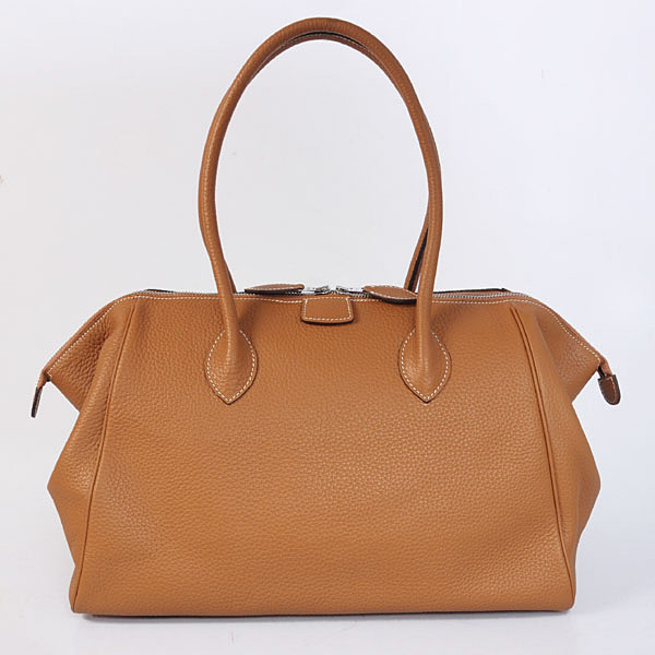 1269 Hermes 37cm paris bombay clemence leather in Peach