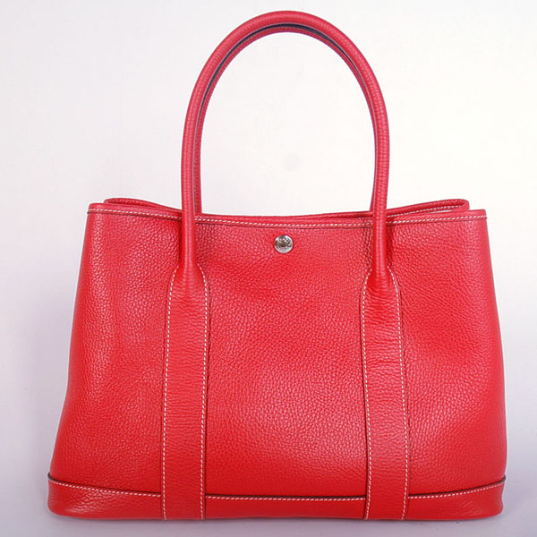 H0821 Hermes Garden party bag clemence leather in Flame