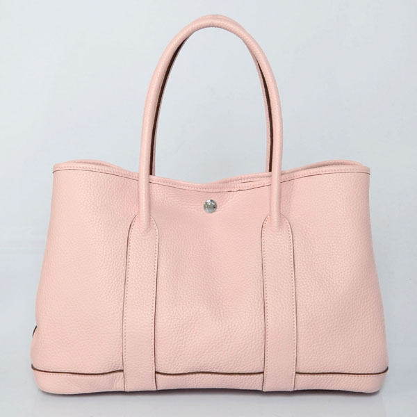 H0821 Hermes Garden party bag clemence leather in Pink