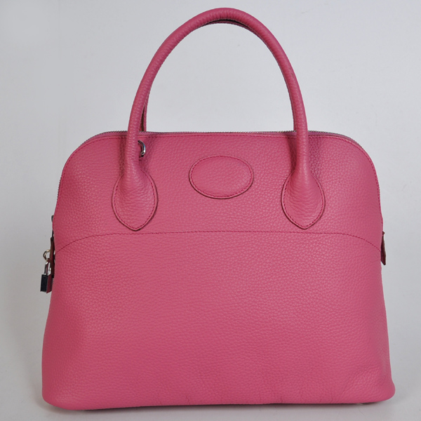 1037PS Hermes Bolide Bag 37cm clemence leather in Peach with Silver hardware