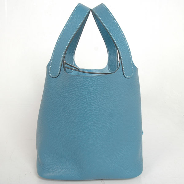 1048MB Hermes picotan MM Bag clemence leather in Medium Blue