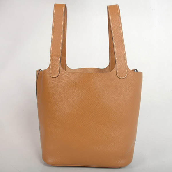1048C Hermes picotan MM Bag clemence leather in Camel