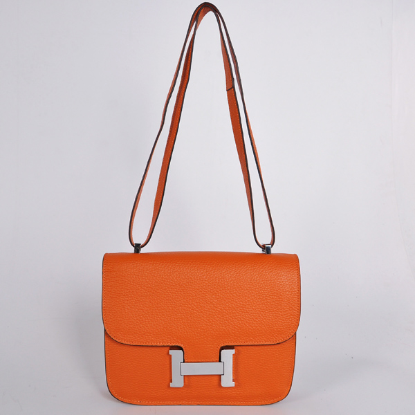 8888OS Hermes Constance Bag clemence leather in Orange with Silver hardware