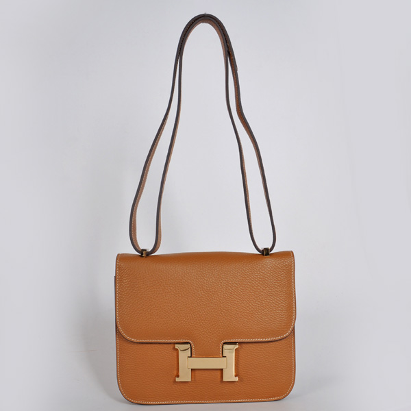 8888CG Hermes Constance Bag clemence leather in Camel with Gold hardware