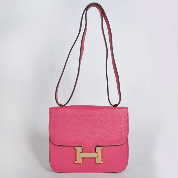 8888PG Hermes Constance Bag clemence leather in Peach with Gold hardware