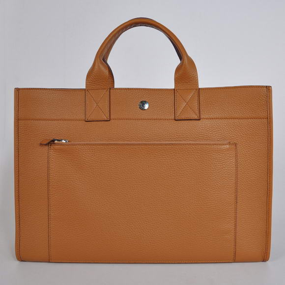 H100 Hermes Briefcase 40CM Bag Clemence Leather Camel