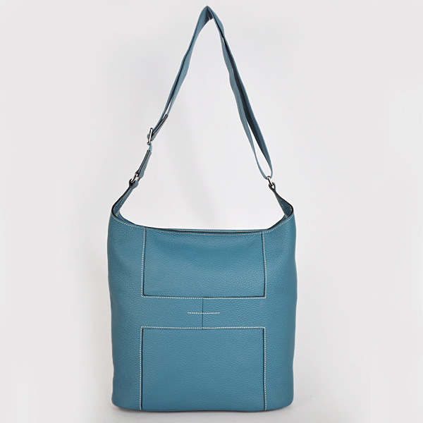 1033 Hermes Good News Bag clemence leather in Medium Blue