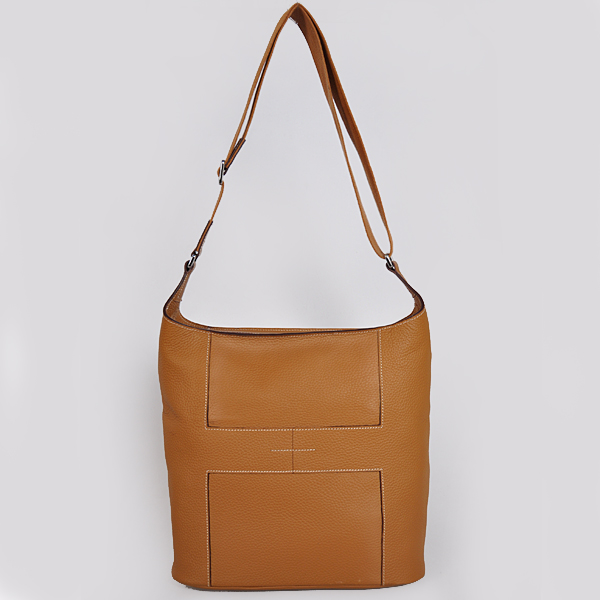 1033 Hermes Good News Bag clemence leather in Camel