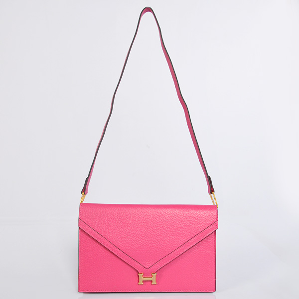 1038 Hermes Liddy Bag clemence leather in Peach with Gold hardware