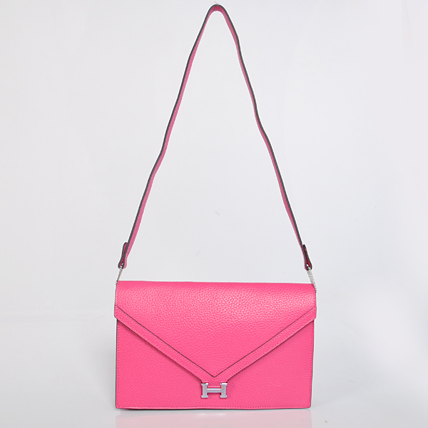 1038 Hermes Liddy Bag clemence leather in Peach with Silver hardware