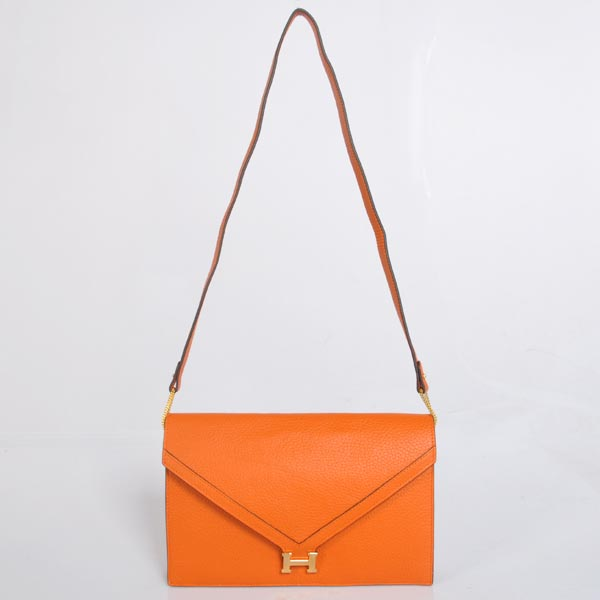 1038 Hermes Liddy Bag clemence leather in Orange with Gold hardware