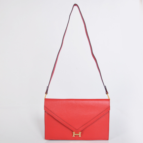 1038 Hermes Liddy Bag clemence leather in Flame with Gold hardware