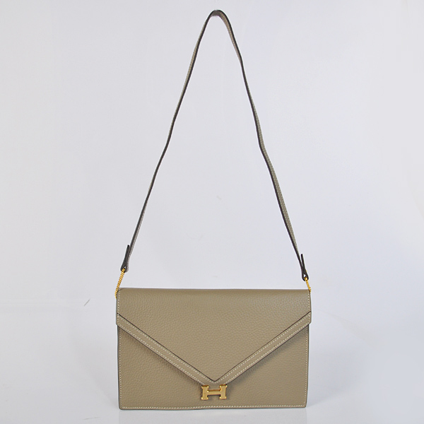 1038 Hermes Liddy Bag clemence leather in Dark Grey with Gold hardware
