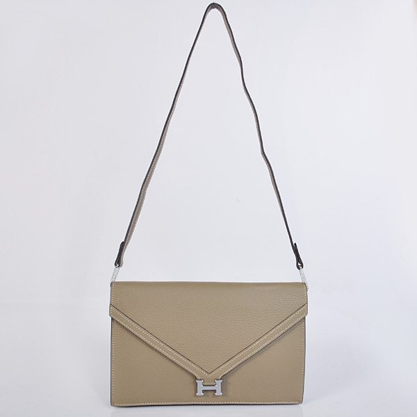 1038 Hermes Liddy Bag clemence leather in Dark Grey with Silver hardware