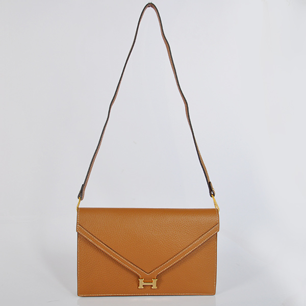 1038 Hermes Liddy Bag clemence leather in Camel with Gold hardware