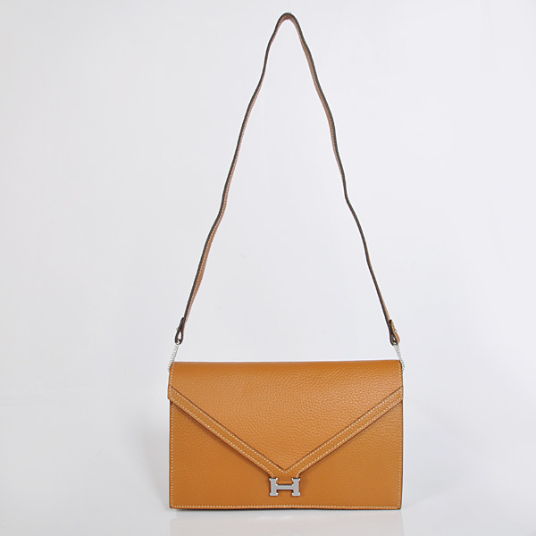 1038 Hermes Liddy Bag clemence leather in Camel with Silver hardware