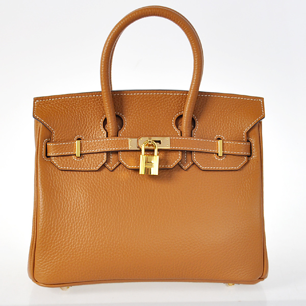 H25LSCG Hermes Birkin 25CM clemence leather in Camel with Gold hardware