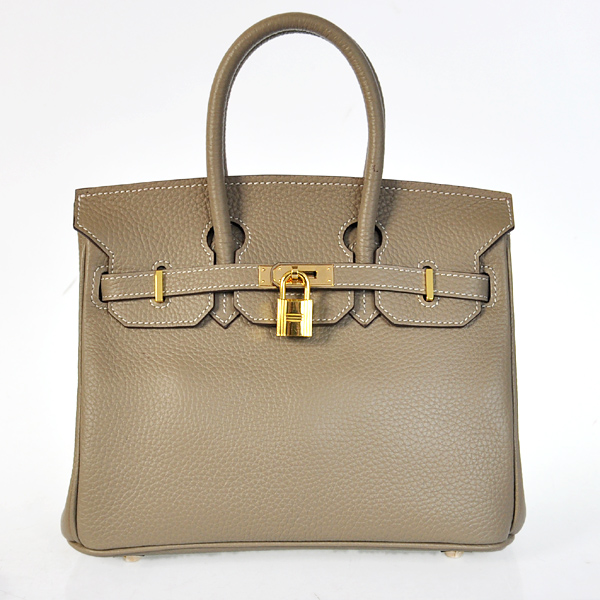 H25LSDGG Hermes Birkin 25CM clemence leather in Dark Grey with Gold hardware