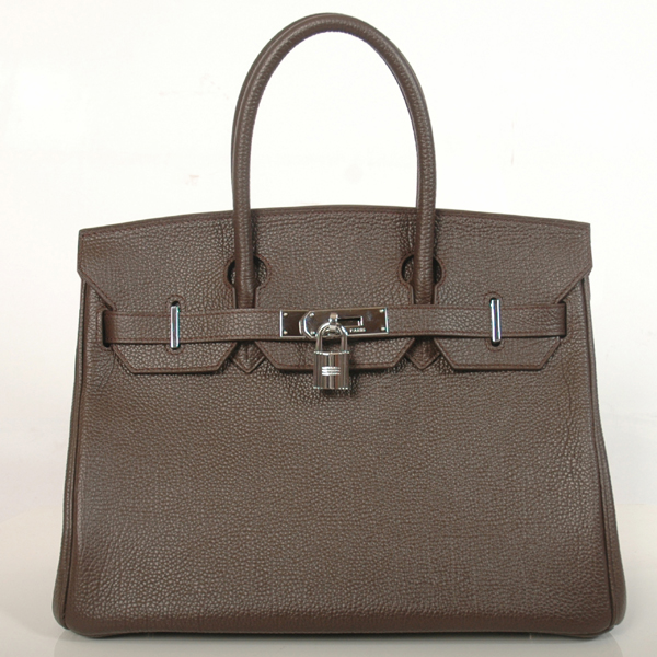 H30BJDBS Hermes Birkin togo leather 30CM togo in Dark Brown with Silver hardware