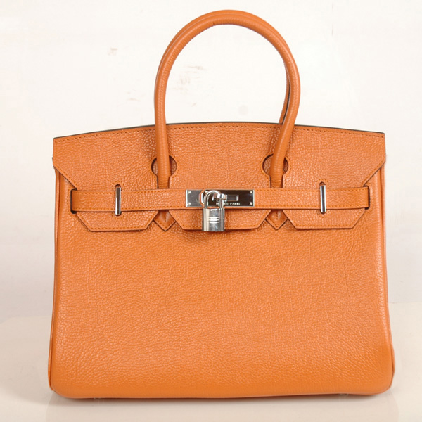 H30BJOS Hermes Birkin togo leather 30CM togo in Orange with Silver hardware
