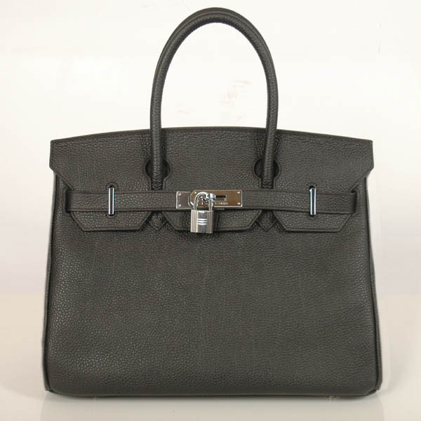 H30BJBS Hermes Birkin togo leather 30CM togo in Black with Silver hardware