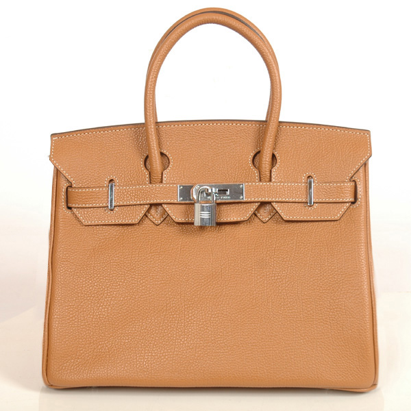 H30BJCS Hermes Birkin togo leather 30CM togo in Camel with Silver hardware