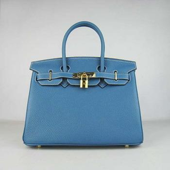 HBK30MBG013 Birkin 30CM Middle Blue (gold)